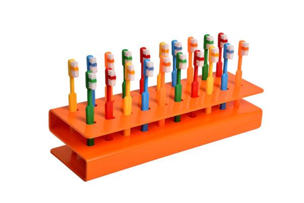 Plain 27 tuft Junior Toothbrush and S Rack 20