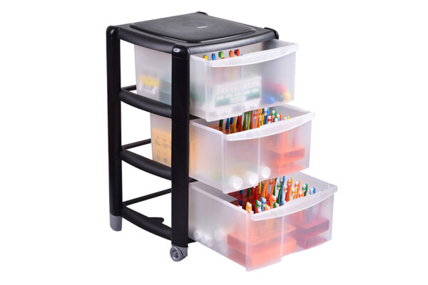 Cabinet/Trolley to hold Racks, Tooth Trains, Toothbrushes and Toothpaste
